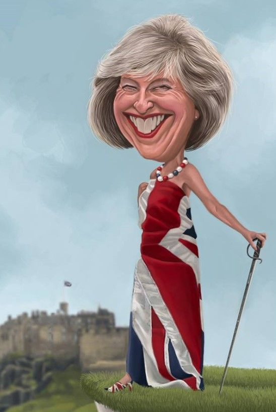 Resultado de imagen para Caricatura de Theresa May
