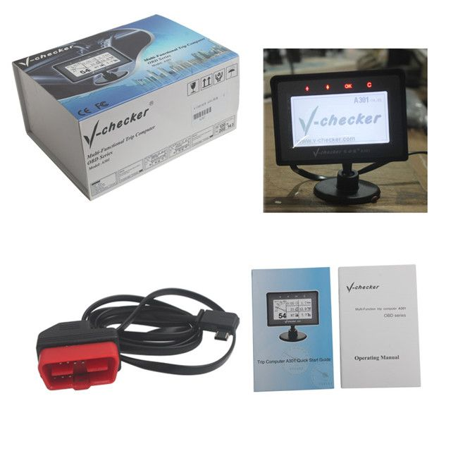 V-CHECKER A301 MULTI-FUNCTION TRIP COMPUTER #v-a301 #vchecker301 #multifunctiona301 #autodiagnostictool #zoli