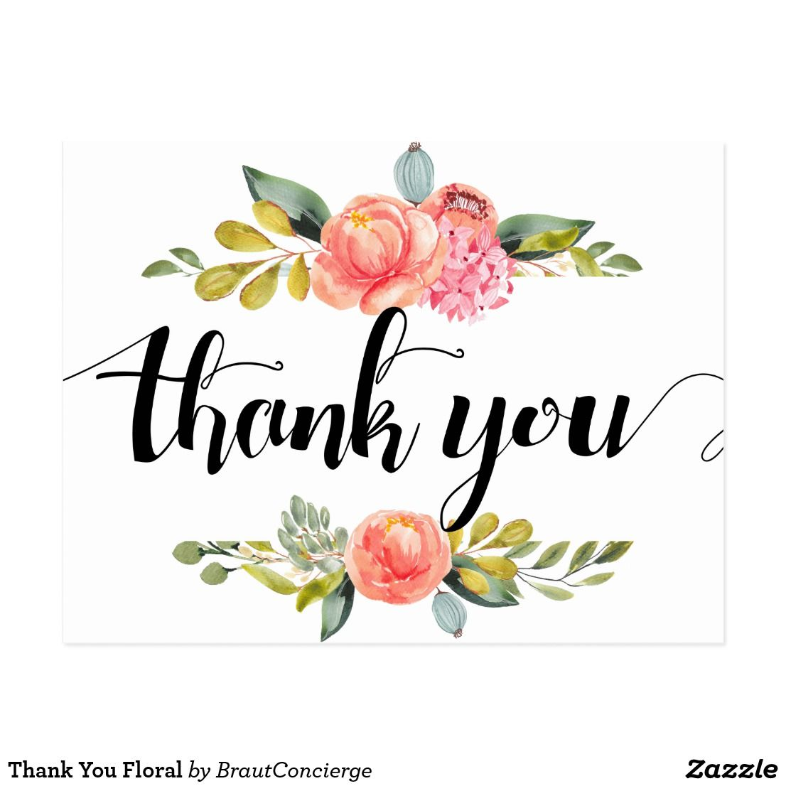 Thank You Floral Postcard With Images Thank You Wallpaper