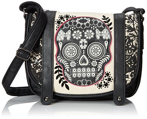 Loungefly Faux Leather Black Lace Sugar Skull with Fushia Crossbody Purse Loungefly http://www.amazon.com/dp/B00DH4MSSI/ref=cm_sw_r_pi_dp_RgJpvb1JKR09X