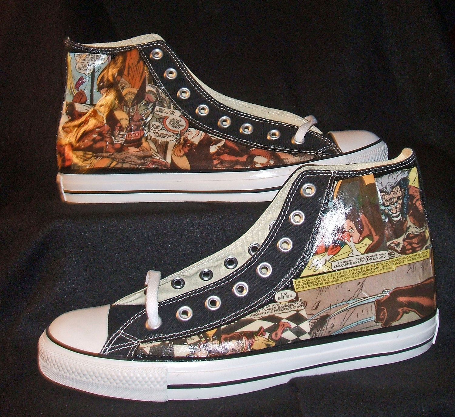 sneakers for cheap fc232 86a29 Wolverine X Men Marvel Comic Book Shoe - Geekery - Men - Converse Chuck  Taylor AllStar.  100.00, via Etsy.