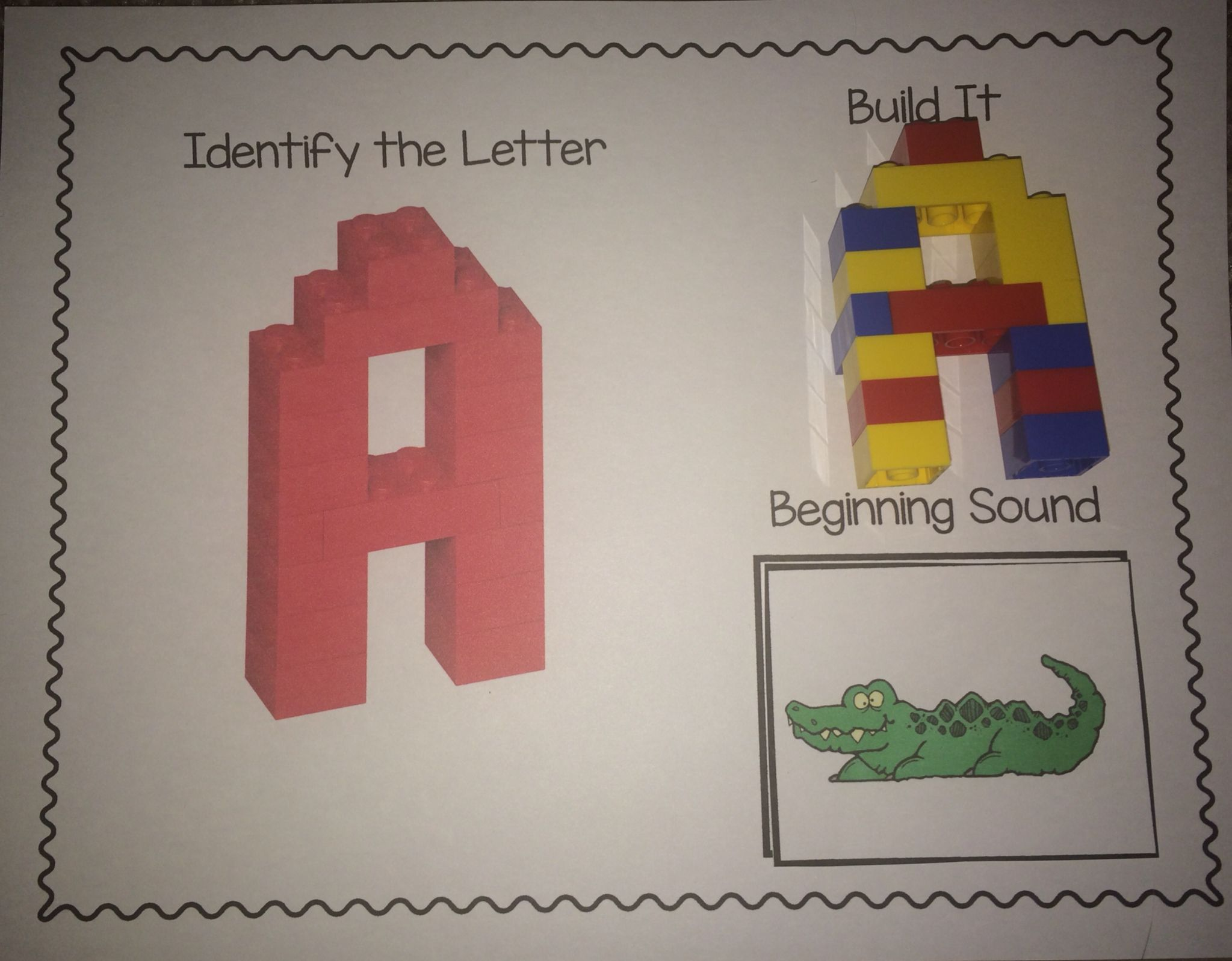 Alphabet Mats For Students To Build 3d Lego Letters As