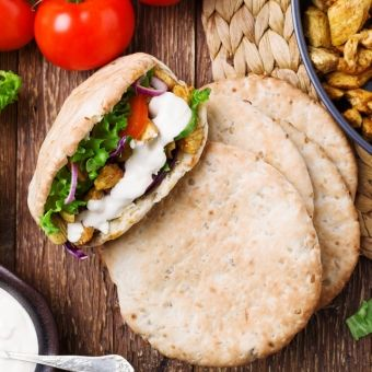 This Chicken Salad Pita as a quick and healthy lunch or dinner option, perfect for summer days when you don't feel like turning on the stove!
