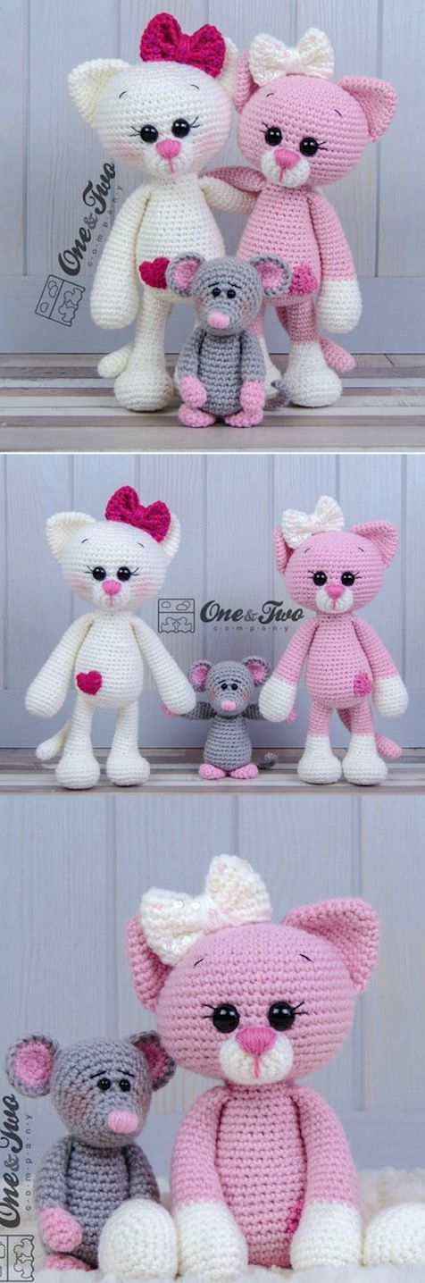 Amigurumi Cat Crochet Pattern Easy Video Tutorial #crochetamigurumifreepatterns