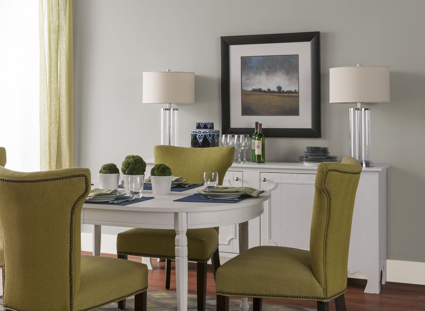 Dining Room Grey Color Schemes dining room in old monterey grey | stuff to buy | pinterest | room