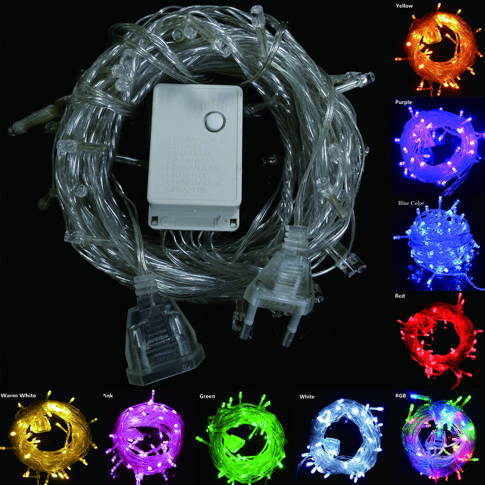 9 colors connectable led christmas lights indoor outdoor decoration 10m 50 leds led string lights us