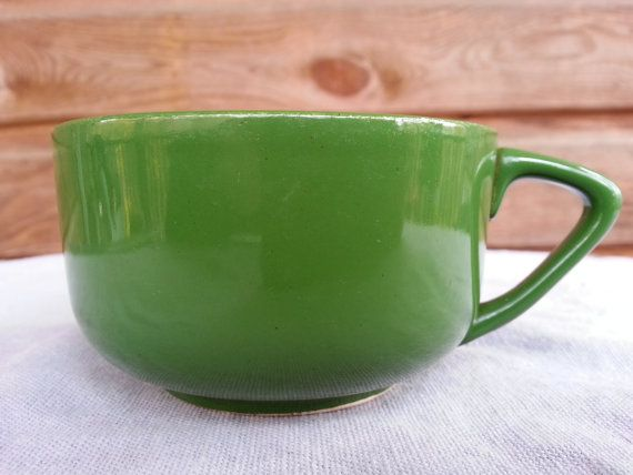 Vintage Green Coffee Cup by RukaDoll on Etsy, $9.00