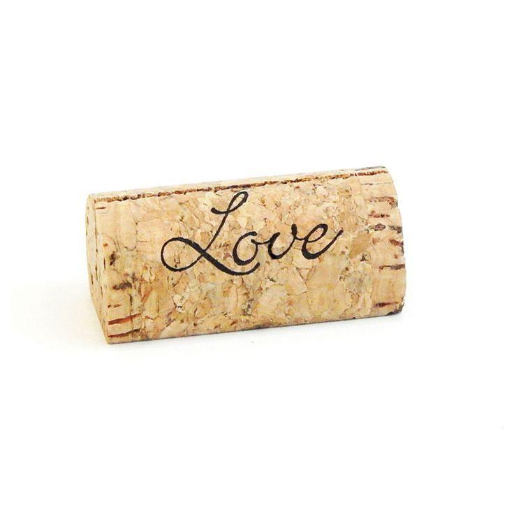 Real Weddings Cork: Wine Cork Place Card Holder - Love