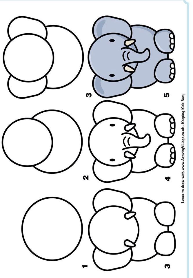 Elephant Crafts To Do Pinterest Kresby Skola A Deti