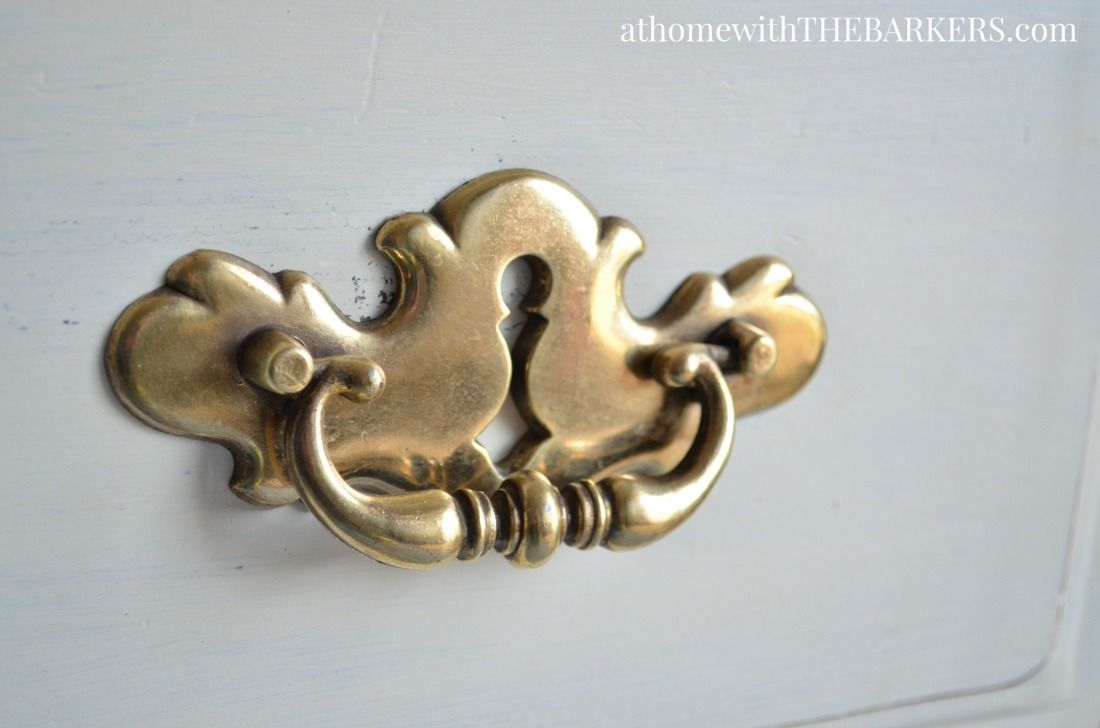 how to clean brass handles