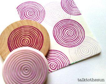 herringbone circle rubber stamp geometric pattern hand. Black Bedroom Furniture Sets. Home Design Ideas