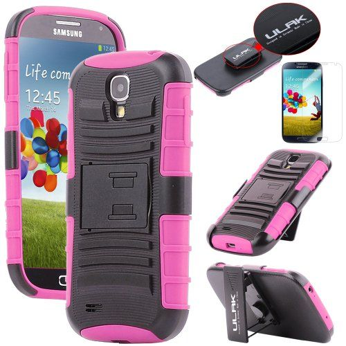 Pandamimi ULAK(TM) Shell Holster Combo Case for Samsung Galaxy S4 SIV i9500 with Kick-Stand &Belt Chip and Screen Protector (Rose Pink) - http://androidizen.com/shop/pandamimi-ulaktm-shell-holster-combo-case-for-samsung-galaxy-s4-siv-i9500-with-kick-stand-belt-chip-and-screen-protector-rose-pink/