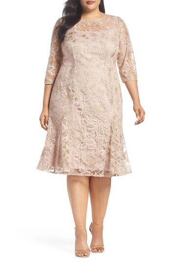 Alex Evenings Embroidered Fit Amp Flare Dress Vestidos