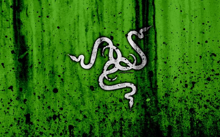 Download Wallpapers Razer 4k Logo Creative Green Background Razer Logo Besthqwallpapers Com Gaming Wallpapers Green Backgrounds Computer Wallpaper