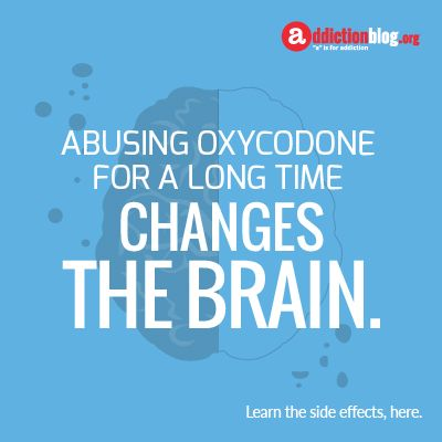 Oxycodone side effects sexually