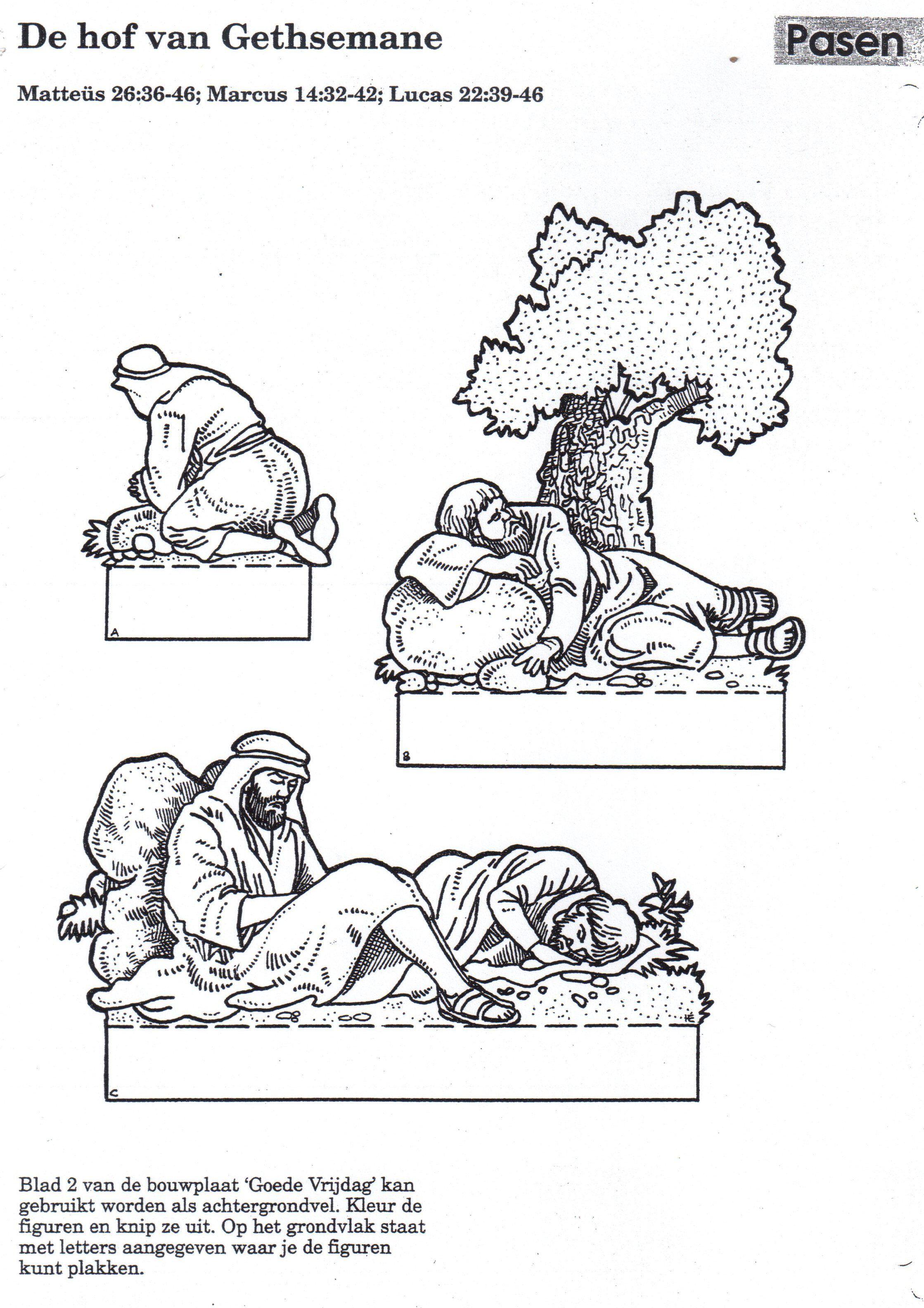 huerto de los olivos discipulos durmiendo manualidad catequesis