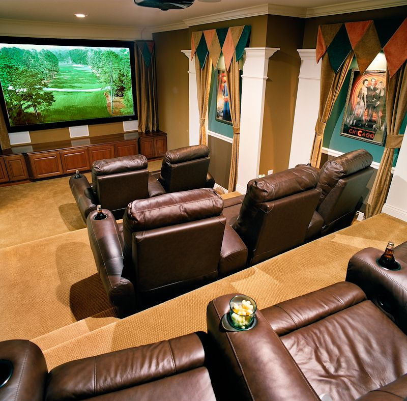 Home Cinema Room Home Theater: Great Movie Theater Room In A Fischer Home.
