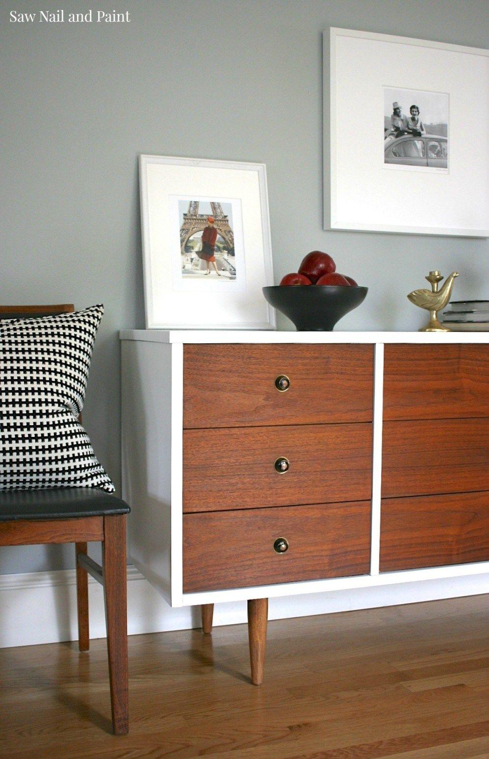 Bassett Mid Century Dresser Makeover Mid century dresser