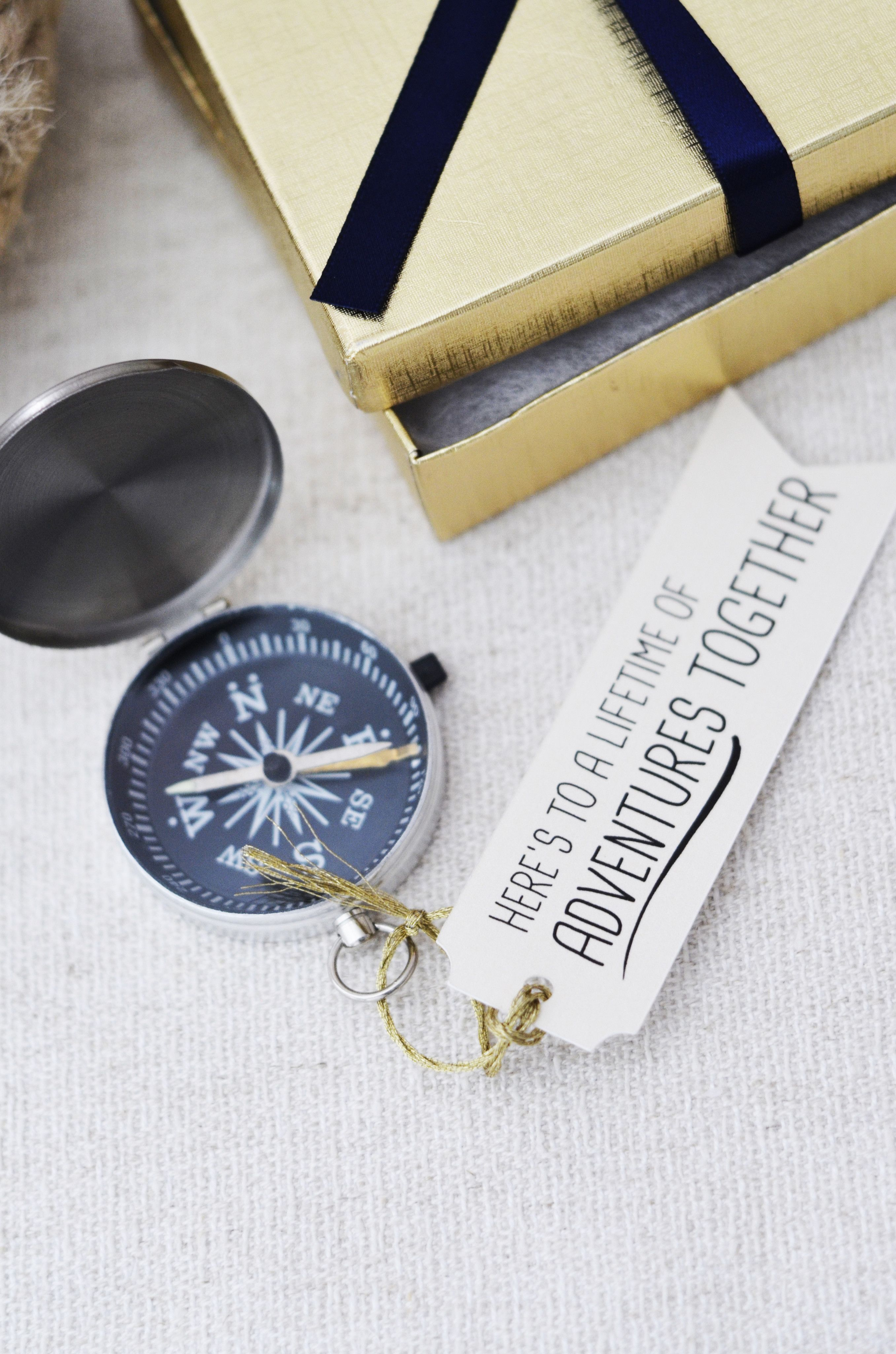 24ee5e956bc Nautical Anniversary Compass Gift - Here s to a lifetime of adventures  together