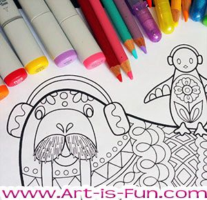 Groovy Animals Coloring Pages By Thaneeya McArdle 20 Detailed To Print And Color