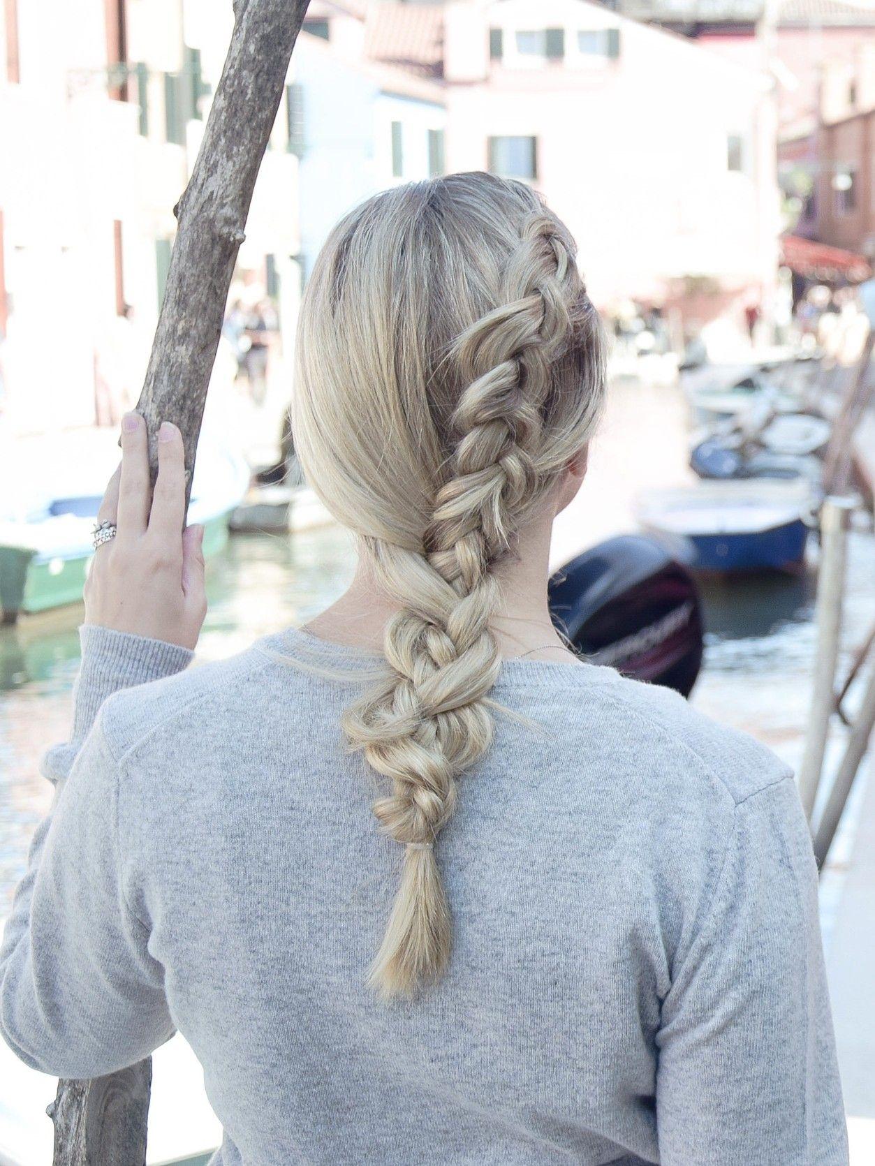 Dutch Braid In A Braid Die Praktische Sightseeing Frisur Braids Life Geflochtene Frisuren Flechten Lange Haare Geflochtene Haare