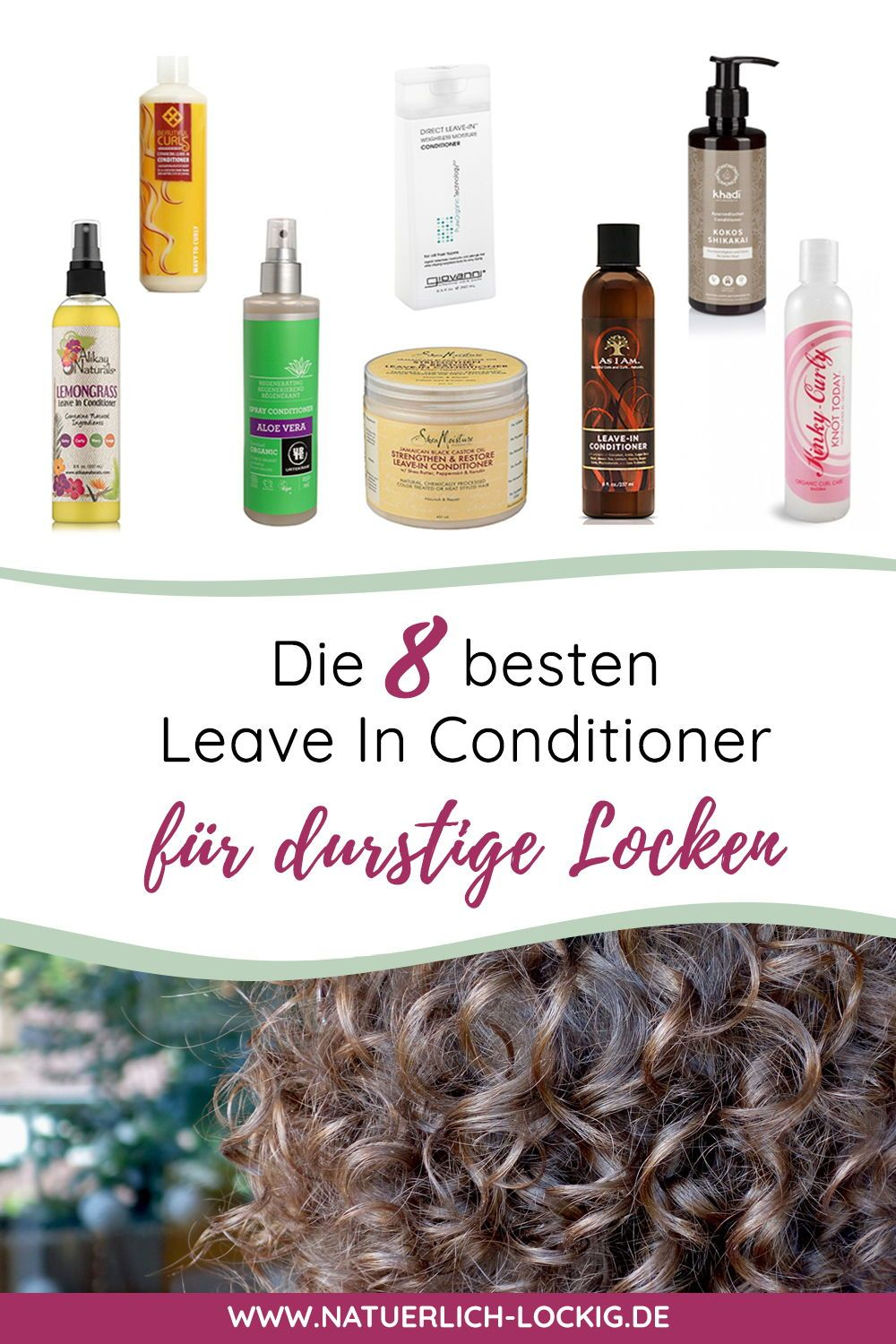 Die Besten 9 Leave In Conditioner Für Durstige Locken Naturlocken