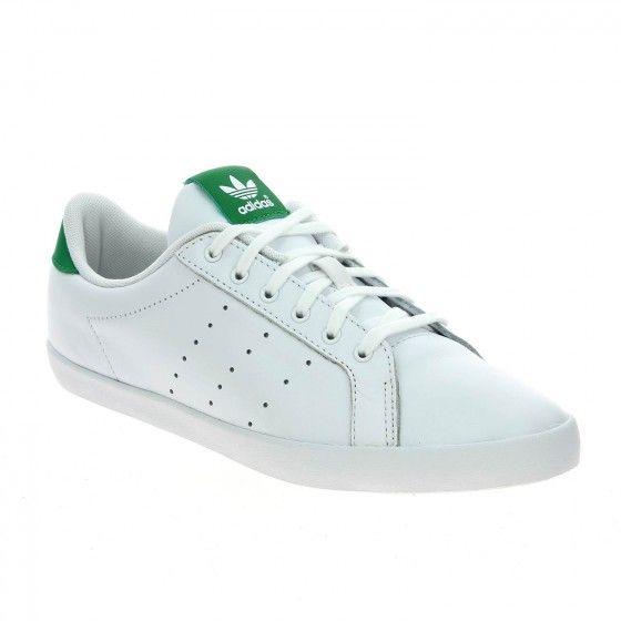 ADIDAS MISS STAN W Blanc Et Vert disponible en ligne sur www.bessec- chaussures