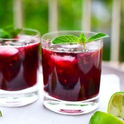 Another refreshing summer cocktail -- blackberry mojitos