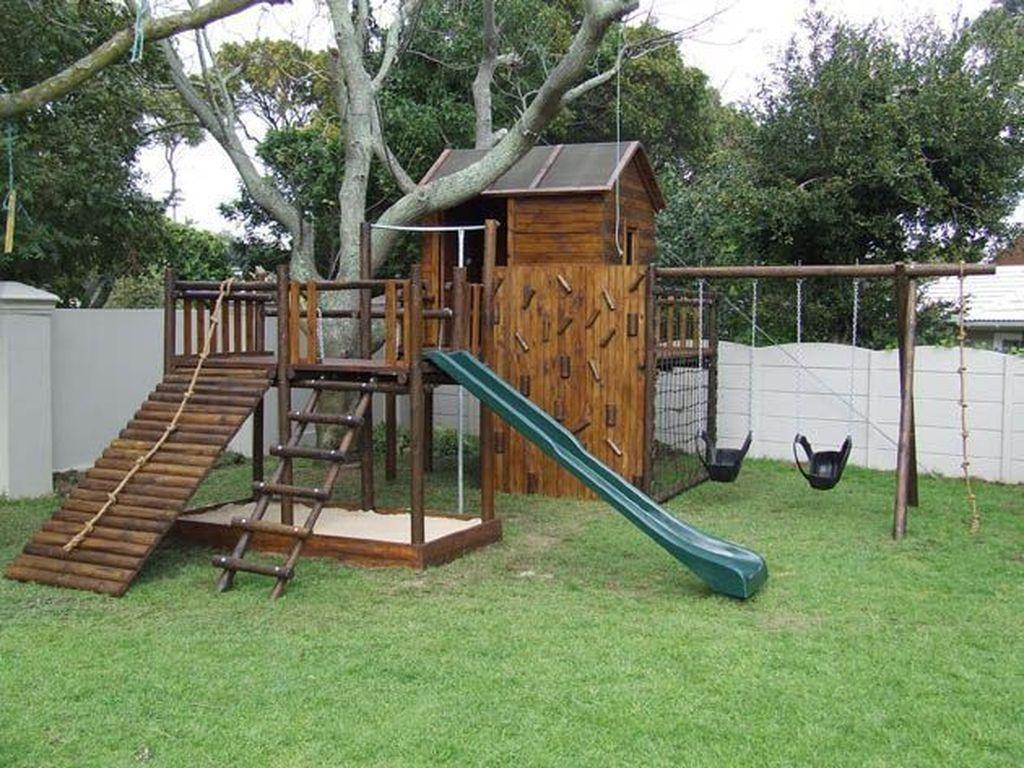 44 Gorgeous Backyard Playground Kids Design Ideas Pimphomee Backyard Jungle Gym Diy Playground Backyard Playground