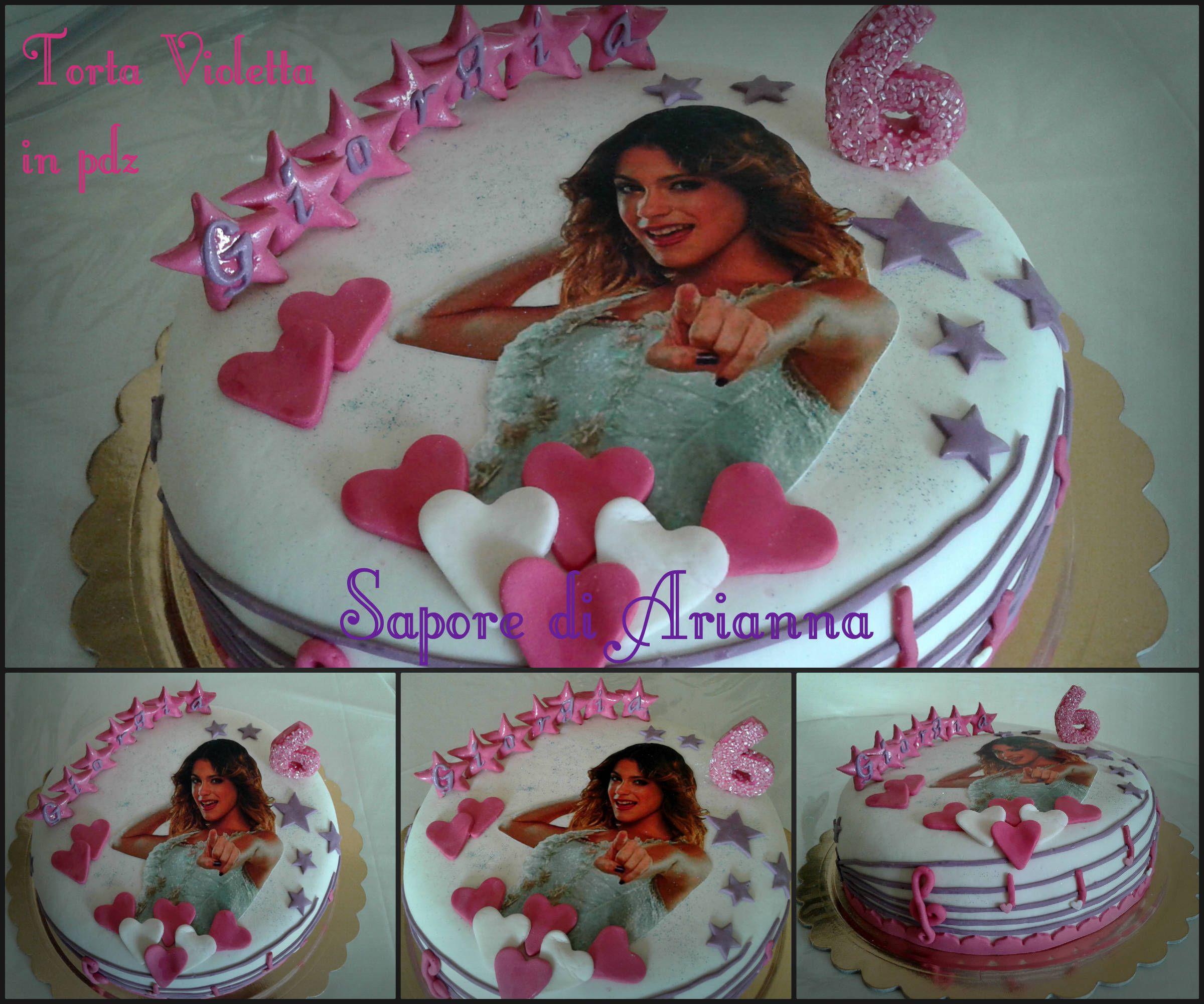 Torta Compleanno Violetta.Torta Violetta In Pdz E Mmf Auguri Giorgia Torte Buon