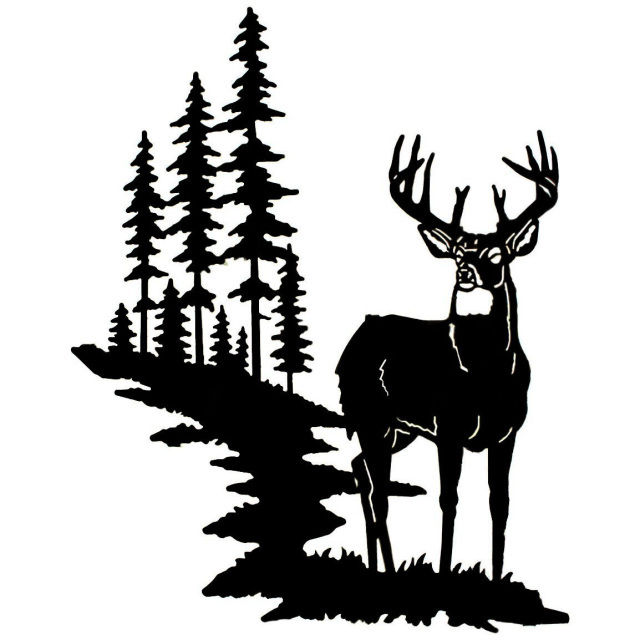 buck silhouette svg Google Search Deer silhouette