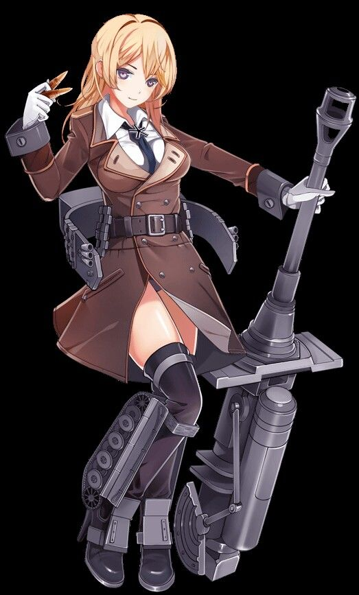 Panzer Waltz Formal Female Character Design Suit Tank Not Sexually Perverse Anime Tank Tank Girl Female Character Design
