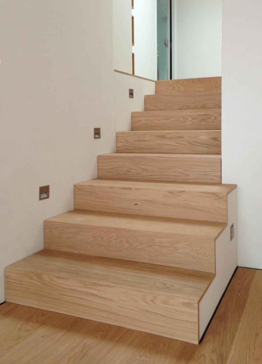 Parkett Stufen Auf Holzkonstruktion Treppe Stufenbeleuchtung Moderne Innenarchitektur