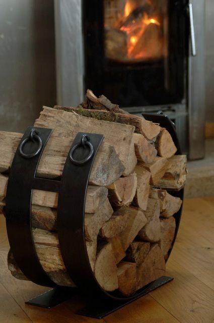 Iron Log Holder Firewood Firewood Rack Wood Storage Rack