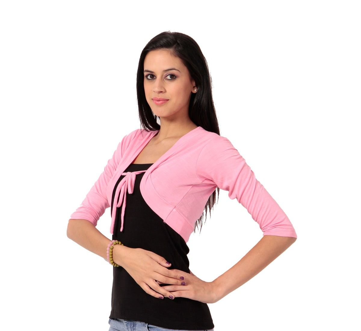 67d52b960d Buy Teemoods Stylish Pink Short Shrug online for girls in India at  reasonable price