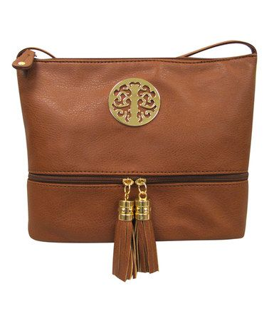 Love this Brown Tassel Messenger Bag on #zulily! #zulilyfinds
