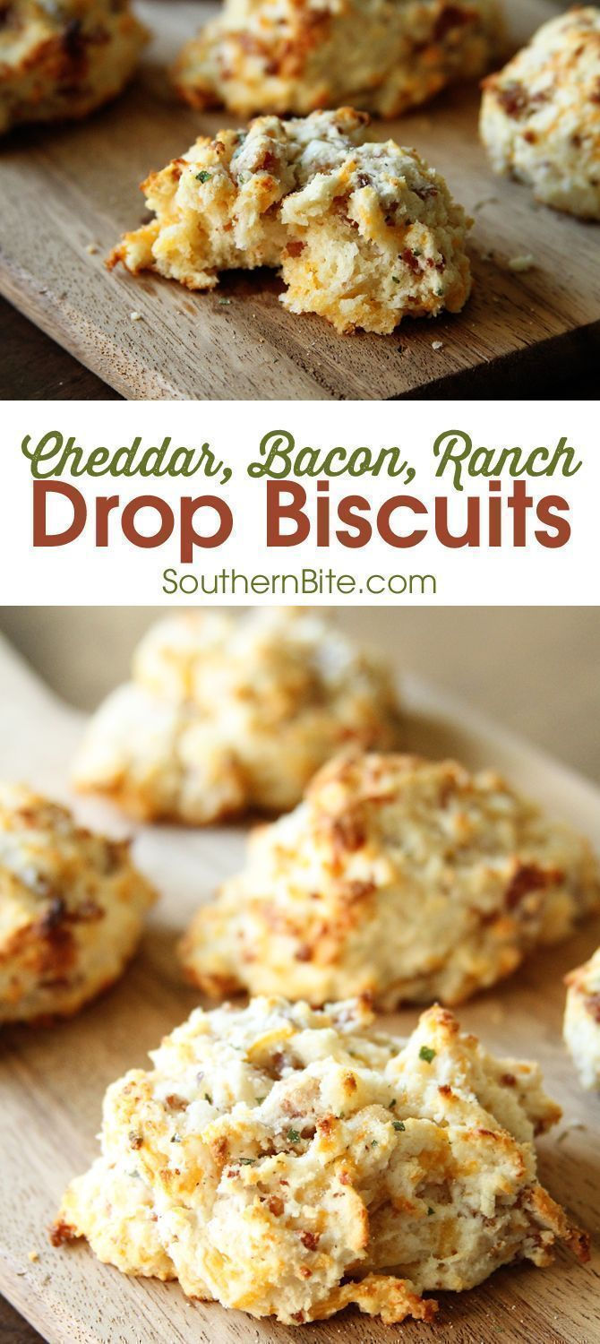Photo of Cheddar, Bacon, Ranch Drop Biscuits
