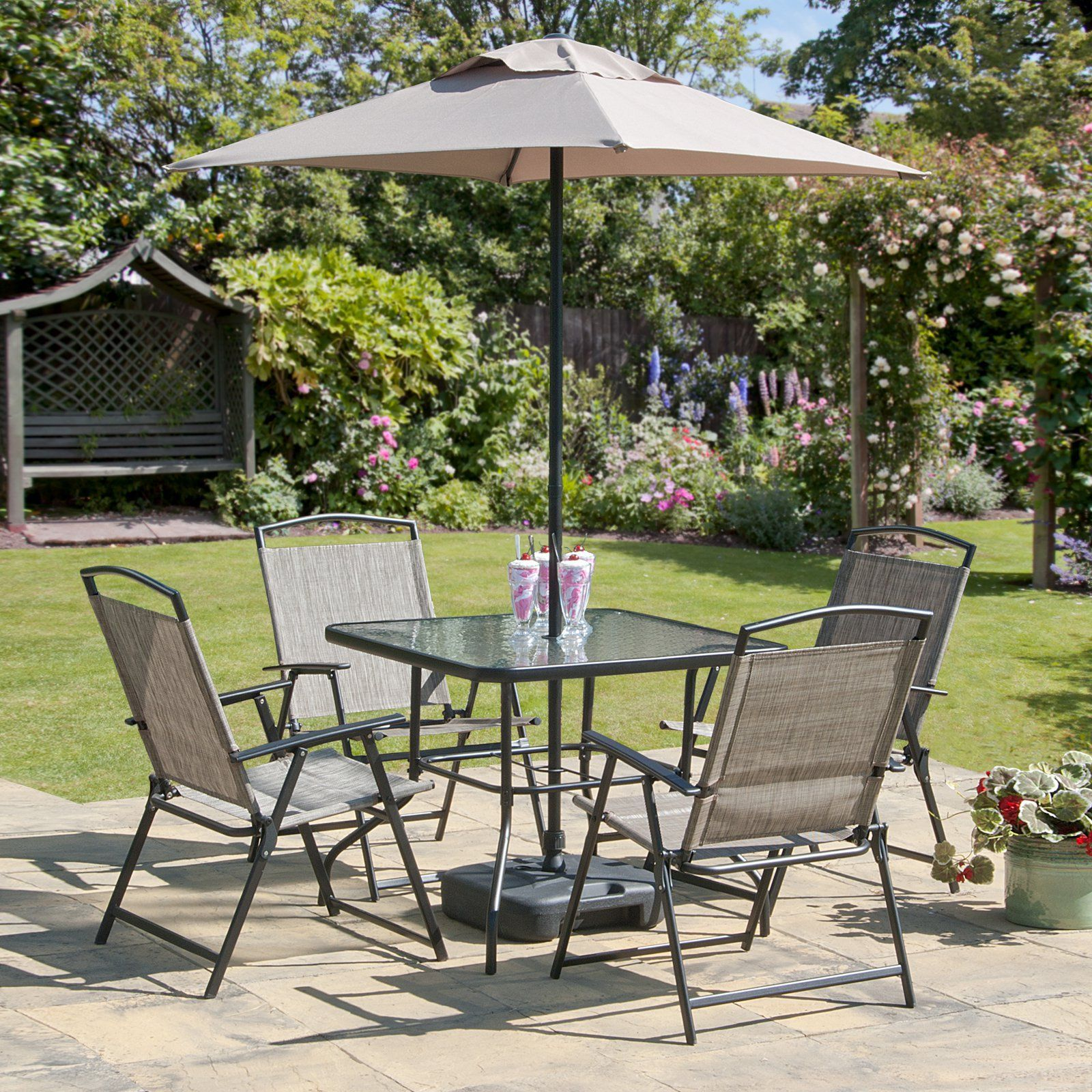 Transcontinental Outdoor Oasis Steel 7 Piece Patio Dining