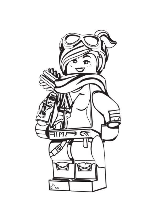 Kids N Fun Com Coloring Page Lego Movie 2 Lucy 2 Malvorlagen Lego Film Lustige Malvorlagen