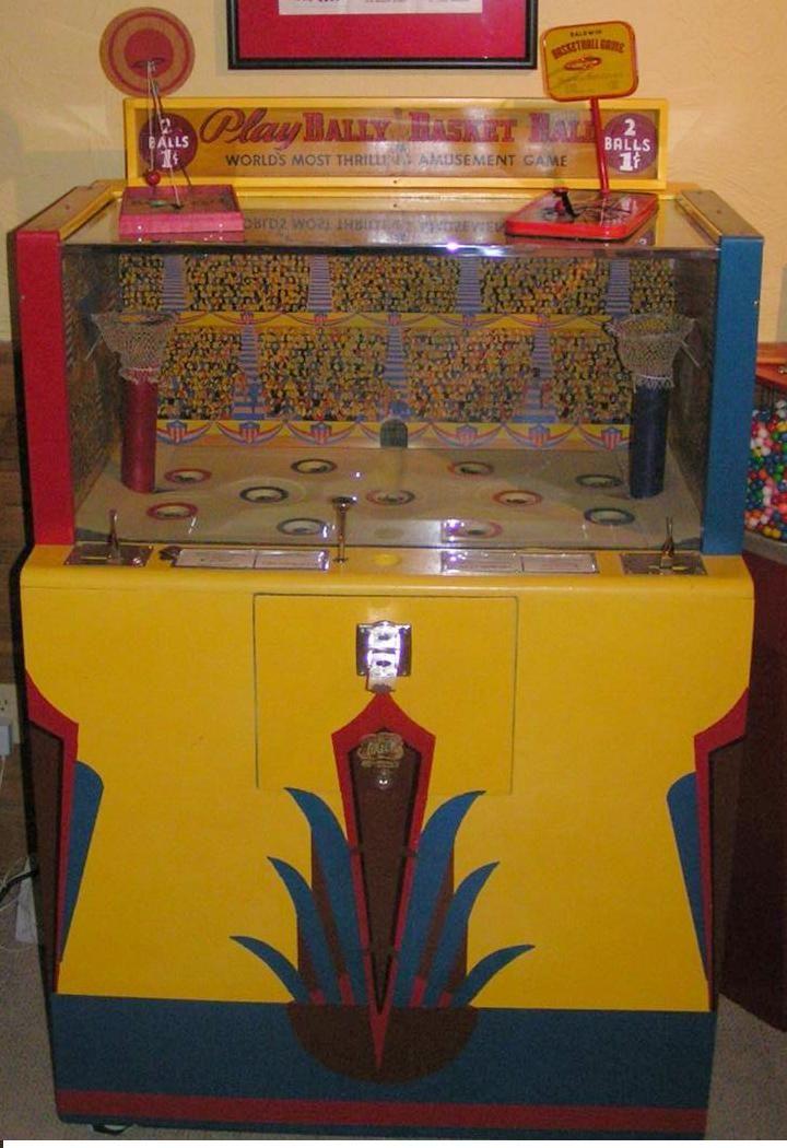 Bally Basketball 1940 Coin Operated Mechanical Arcade Game