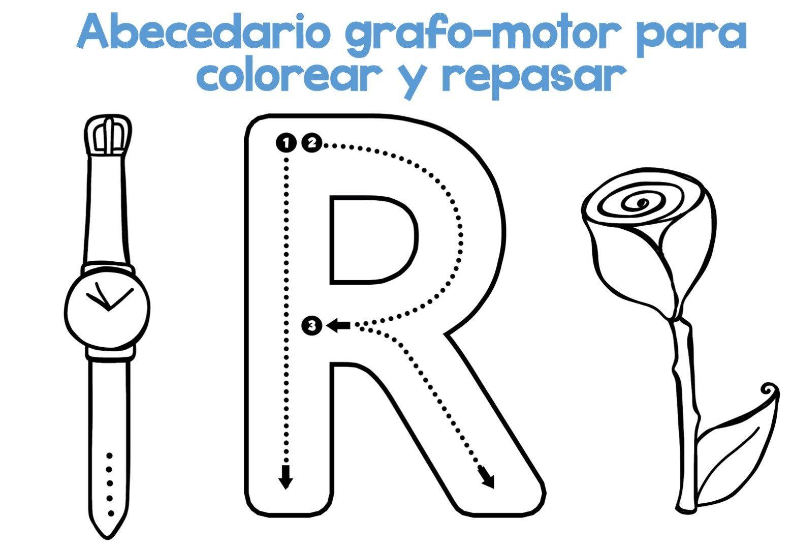 Alfabeto Para Colorear: DESCARGA EL ARCHIVO EN PDF Abecedario Grafomotor Para