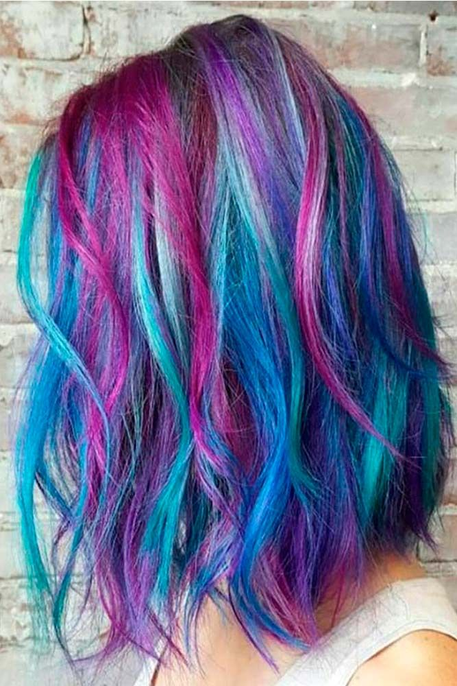 60 Fabulous Purple And Blue Hair Styles Hair Color Pastel