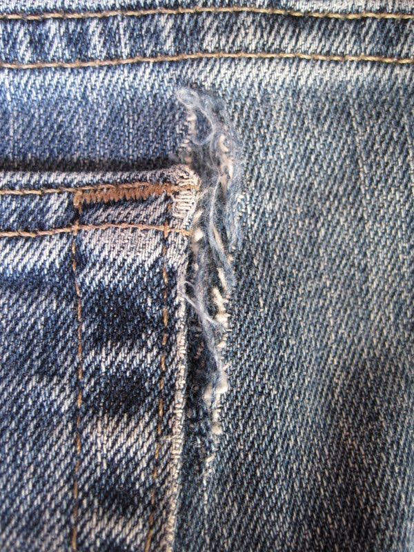 fff2e25e14b5b ... them in good repair. Detailed diy for repairing jeans that tend to rip  by the back pocket.