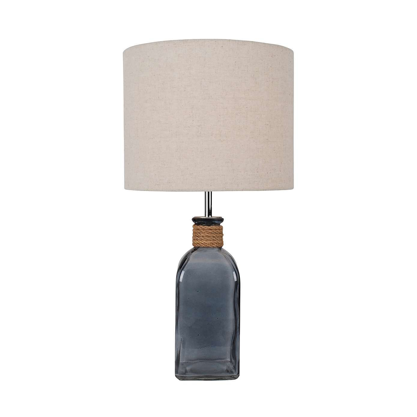 Ellery clear glass bottle table lamp dunelm