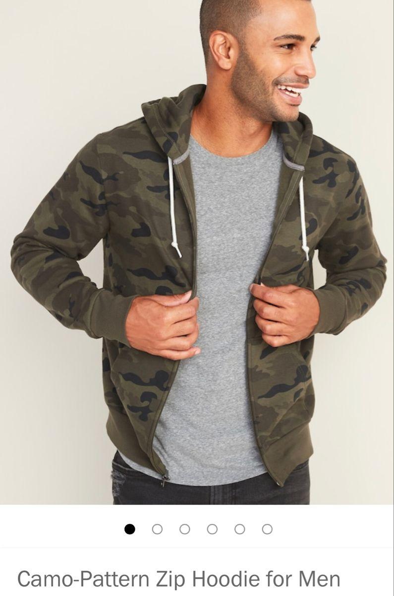 Camo Pattern Zip Hoodie For Men In 2021 Old Navy Men Mens Shirts Navy Hoodie [ 1200 x 795 Pixel ]