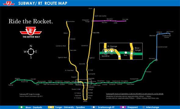 Subway Map Ttc.Toronto Ttc Scale Map Challenge Yourself Subway Map Toronto