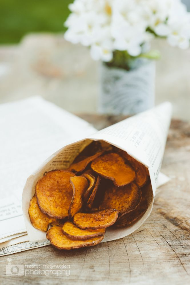 sweet potato & smoked paprika chips