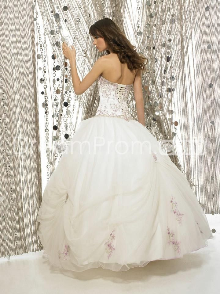 Sprigs of lilac embroidery back view tomboy diva 39 s for Wedding dresses for tomboy brides