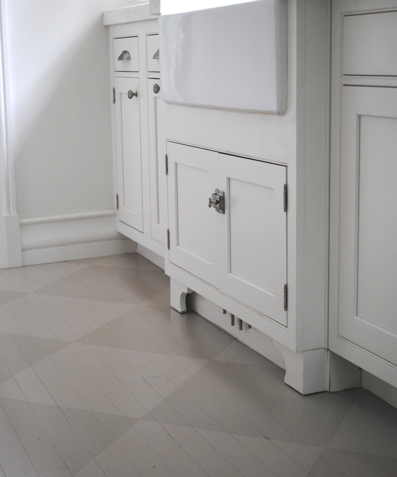 Checkerboard Kitchen Floor Wood Floor Painted In Grey Tone On Tone Check Via Http
