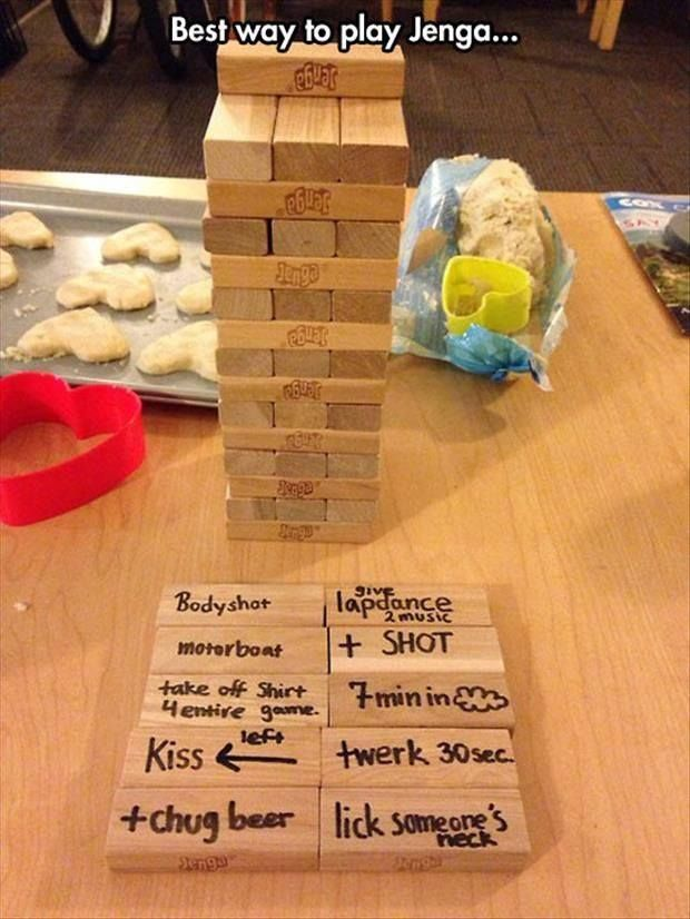 Steamy Jenga Adult Party Games Drinking Games Family Games